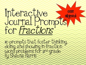 Interactive Journal Prompts for Fractions