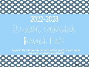 Interactive Kindergarten Calendar Binder 2016-2017