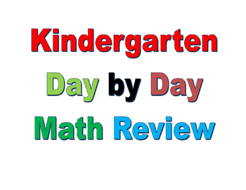 Interactive Kindergarten Math Day by Day Review  Week 21
