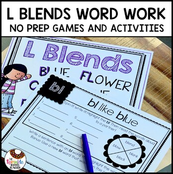 Interactive L Blends Word Work (No Prep)