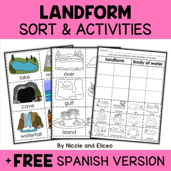 Interactive Landforms and Bodies of Water Activities