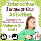 Interactive Language Arts Activities: Vol 3, FIRST Mentor