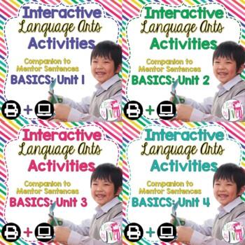 Interactive Language Arts Notebook Just the Basics Bundle