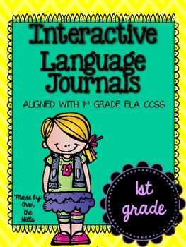 Interactive Language Journals {ALL 1st GRADE LANGUAGE CCSS