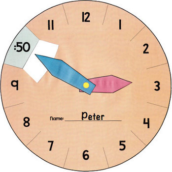 Interactive Learning Clock - Telling Time to 5 Minutes