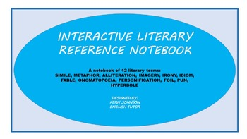 Interactive Literary Reference Notebook