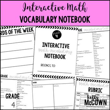 Interactive MATH Vocabulary Notebook {Grade 4}