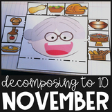 Math Interactive Notebook Thanksgiving Activities Represen