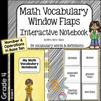 Interactive Notebook Math Vocabulary Foldable Number & Ope