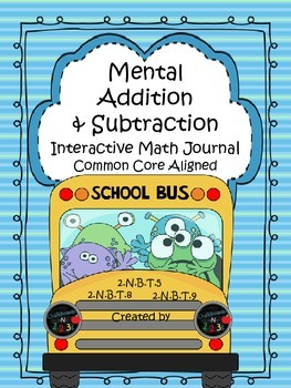 Interactive Math Journal Mental Addition and Subtraction