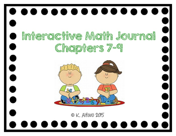 Interactive Math Journal - No Prep (GoMath-1st Grade) Chapter 7-9