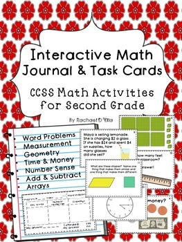 Interactive Math Journal & Task Cards {CCSS activities for
