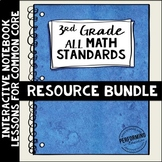 Interactive Math Notebook ALL 3rd Grade Common Core Standa