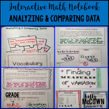 Interactive Math Notebook: Analyzing & Comparing Data {Grade 7}