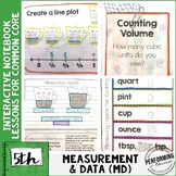 Interactive Math Notebook Common Core 5th ALL MEASUREMENT