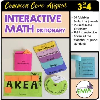 Interactive Math Notebook Dictionary Journal – Grade 3 - C