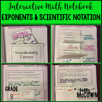 Interactive Math Notebook: Exponents & Scientific Notation