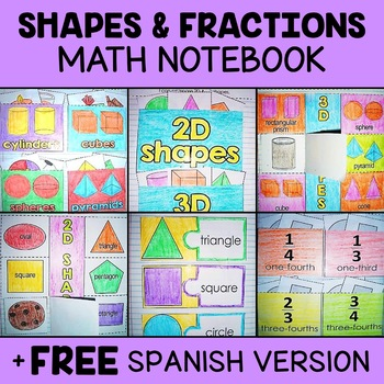 Shapes and Fractions Math Interactive Notebook