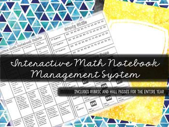 Interactive Math Notebook Management System