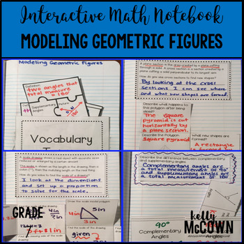 Interactive Math Notebook: Modeling Geometric Figures {Grade 7}