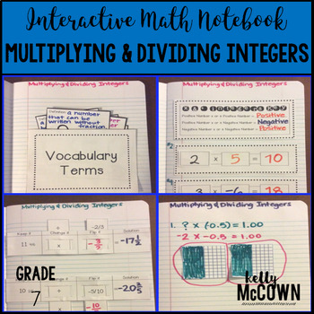Interactive Math Notebook: Multiplying & Dividing Integers