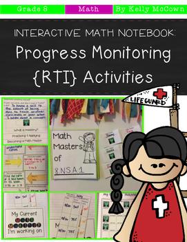 Interactive Math Notebook: Progress Monitoring RTI Activit