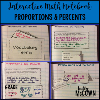 Interactive Math Notebook: Proportions & Percents {Grade 7}