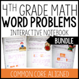 Interactive Math Notebook: Word Problems {4th Grade: All S