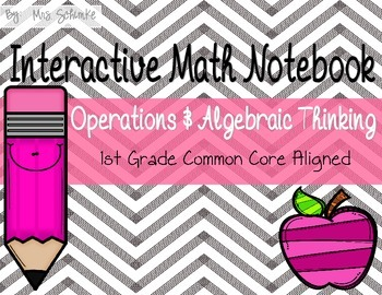 Interactive Math Notebook for 1st Graders: Operations and