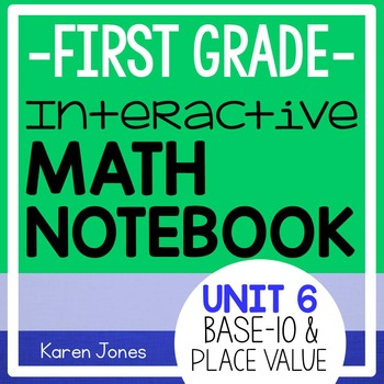 Interactive Math Notebook for 1st grade {Unit 6: Base 10 a