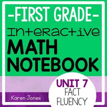 Interactive Math Notebook for 1st grade {Unit 7: Fact Fluency}