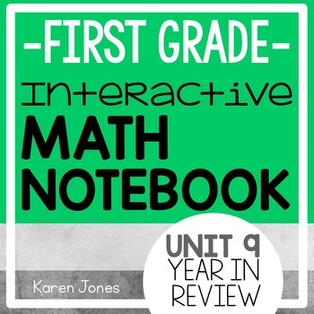 Interactive Math Notebook for 1st grade {Unit 9: Year in Review}