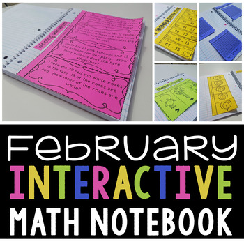Interactive Math Notebook for February (Second Grade)