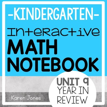 Interactive Math Notebook for Kindergarten {Unit 9: Year i