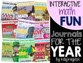 Interactive Math Journals FOR THE WHOLE YEAR {Firsties}