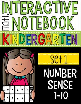 Interactive Math Notebooks Set 1:  Kindergarten Number Sense 1-10