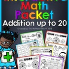 Interactive Math Packet (Addition up to 20)!
