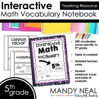 Interactive Math Vocabulary for 5th Grade
