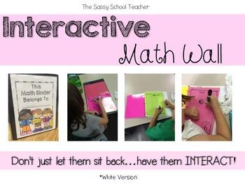 Interactive Math Wall (white version)