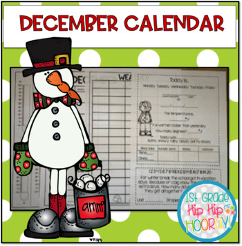 December Daily Calendar/Weather Activities... Math Review