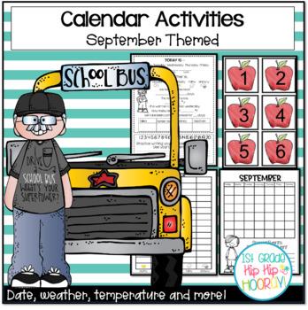 September Daily Calendar/Weather Activities ... Math Revie