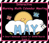 Interactive Math and Calendar  SMARTBoard for May Common Core