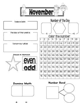 Interactive Morning Calendar