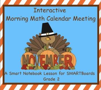 Interactive Morning Math Calendar Meeting SMARTBoard for N