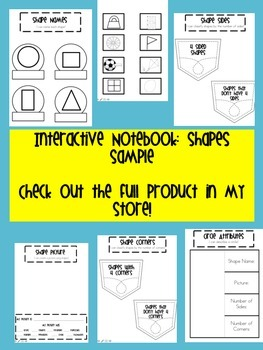 Interactive Notebook 2D Shapes FREE Sample
