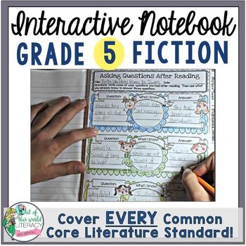 Interactive Notebook: 5th Grade Reading Literature {Cover
