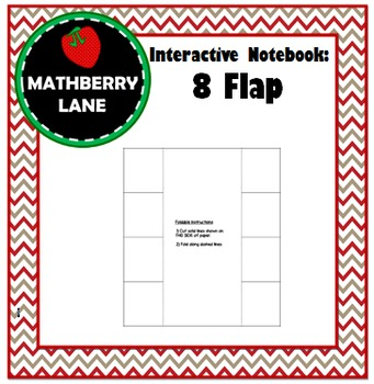 Interactive Notebook: 8 Flap Book Editable Templates in Wo
