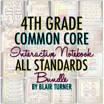 Math Interactive Notebook: 4TH GRADE COMMON CORE