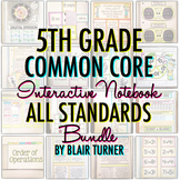 Math Interactive Notebook: 5TH GRADE ALL STANDARDS