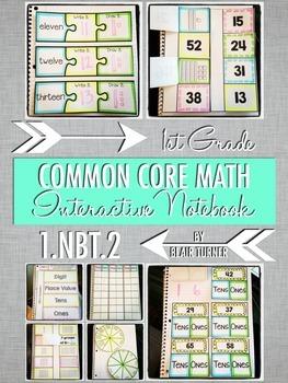 Interactive Notebook Activities - 2-Digit Numbers {1.NBT.2}